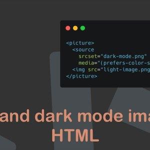 HTML ile görsellerde dark mode seçeneği