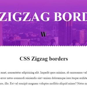 CSS ile zikzaklı kenarlıklar nasıl yapılır
