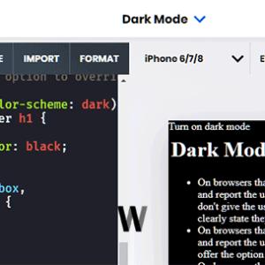 AMP Dark Mode