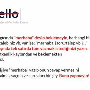 No hello/No merhaba
