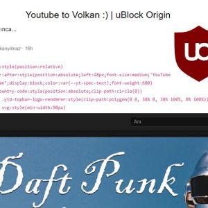 uBlock Origin ile CSS kontrolü