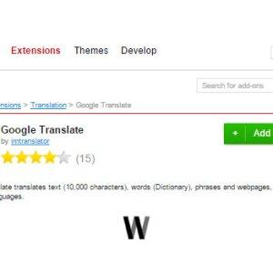 Opera'da Google Translate