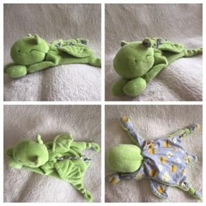 Kuschel-Drache grün-grau - verkauf - zum lieb haben - Wolken Sternchen