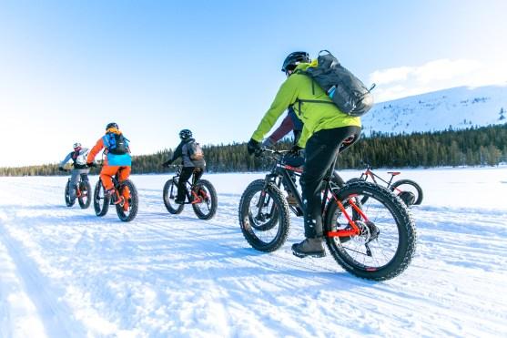 Fatbikes from Team Sportia Äkäslompolo, ylläs