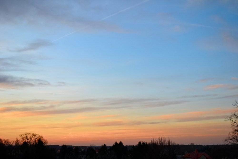 Abendhimmel über Cottbus (1/4)
