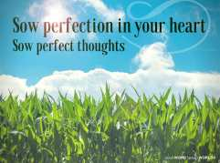 Sow perfection in your heart. Sow perfect thoughts (Good WORD Spread WORLD, excerpt from Pastor Jeong Myeong Seok's sermons)