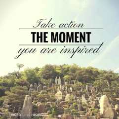 Take action the moment you are inspired (Good WORD Spread WORLD, excerpt from Pastor Jeong Myeong Seok's sermons)