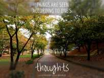 Things are seen according to one's thoughts (Good WORD Spread WORLD, excerpt from Pastor Jeong Myeong Seok's sermons)(Good WORD Spread WORLD, excerpt from Pastor Jeong Myeong Seok's sermons)