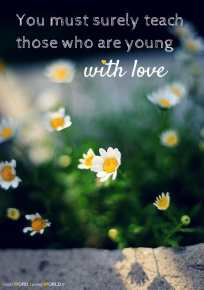 You must surely teach those who are young (Good WORD Spread WORLD, excerpt from Pastor Jeong Myeong Seok's sermons)
