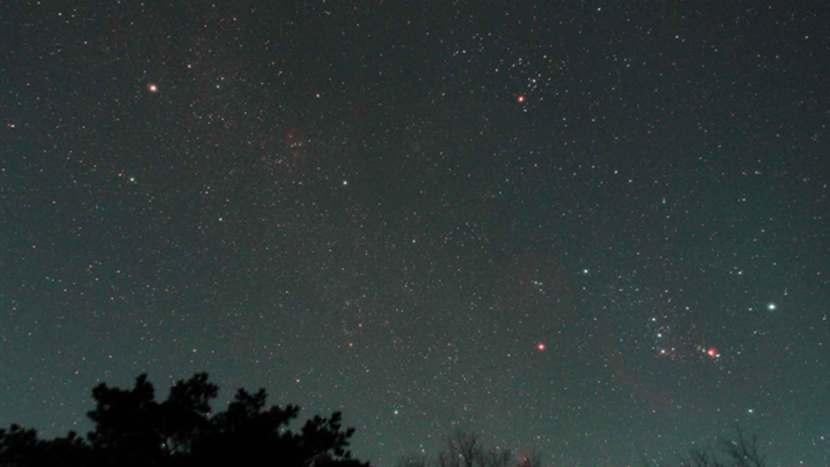 Stars in the night sky above Wolmyeongdong, Korea