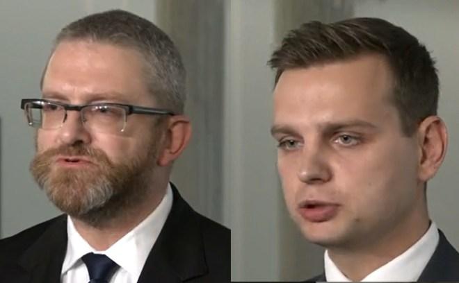 Grzegorz Braun i Jakub Kulesza