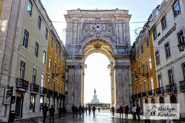 Łuk triumfalny w Lizbonie Arco da Rua Augusta