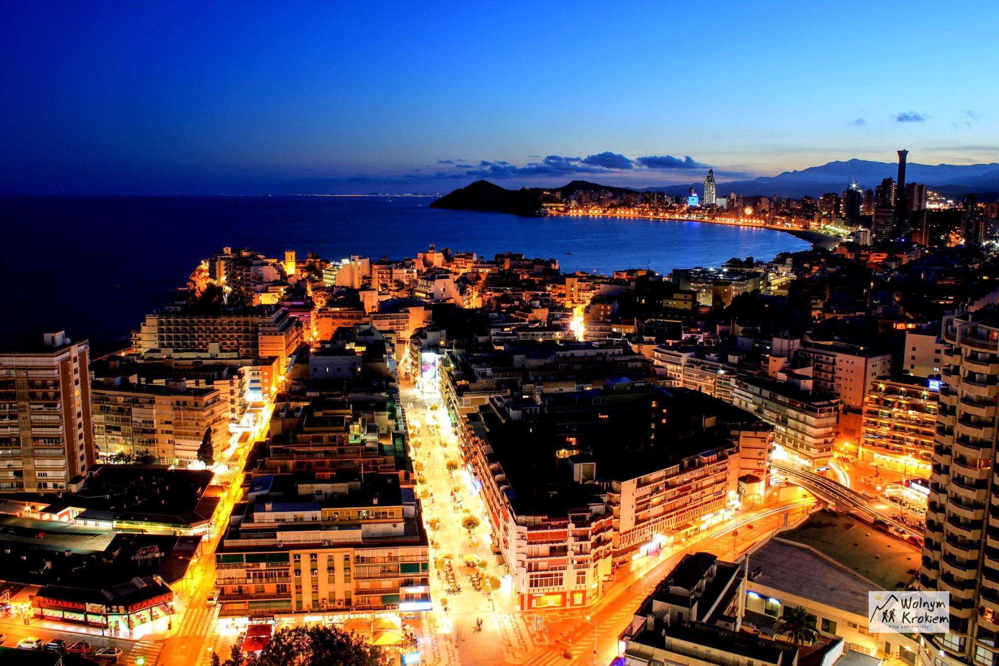Benidorm Hiszpania noc