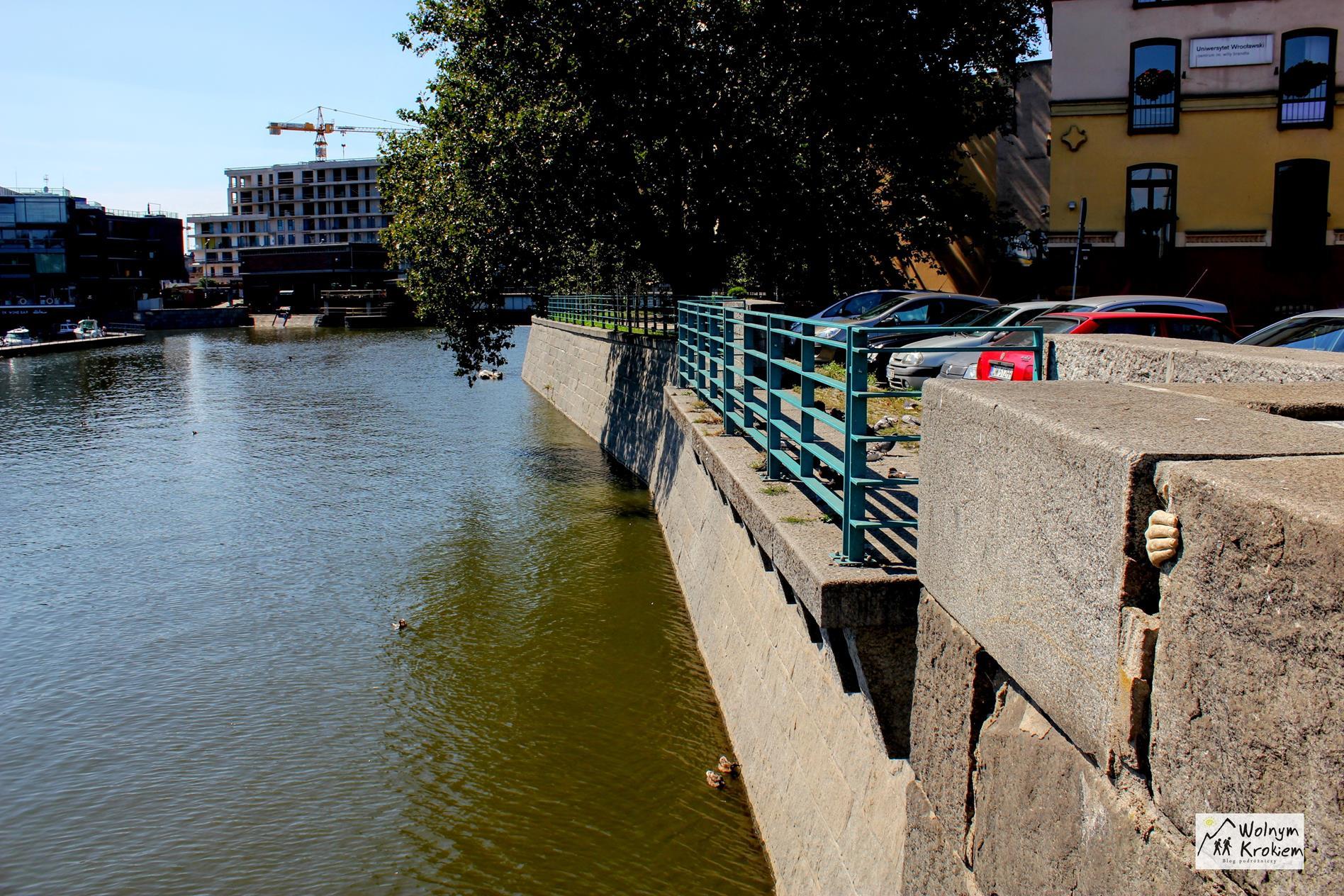 Ręka na Moście Uniwersyteckim we Wrocławiu
