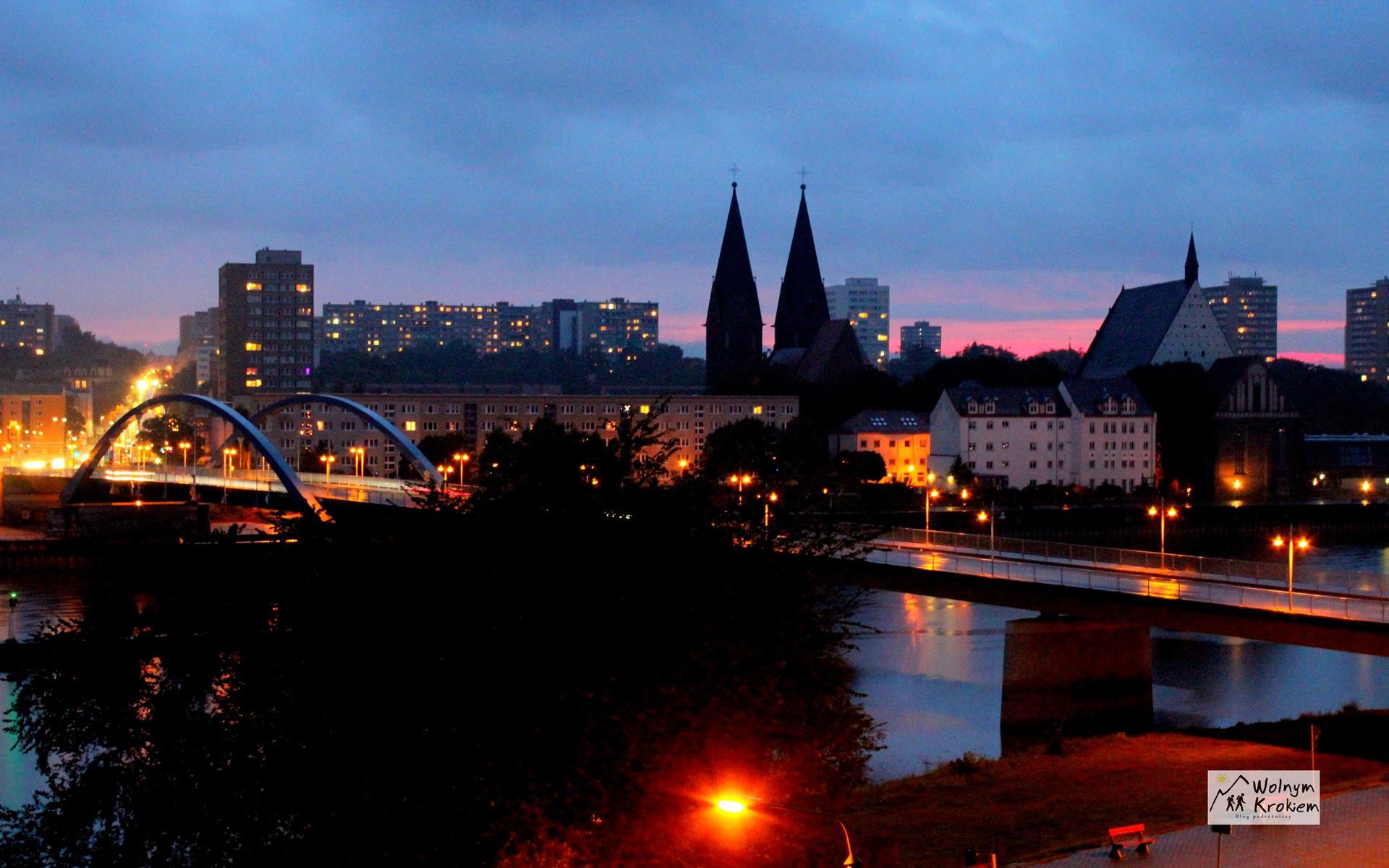 Frankfurt nad Odrą nocą