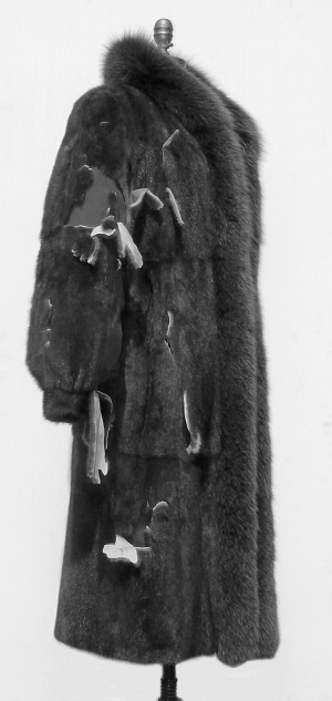 An example of an improperly stored fur coat.
