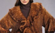 Knitted Whiskey Mink Jacket