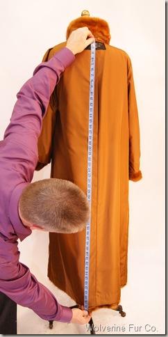 Measuring Length of Fur Coat