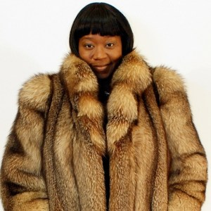 Crystal Fox Fur Jacket 16165