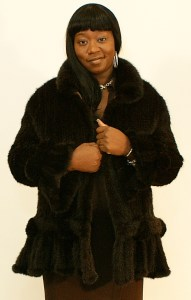 Ladies Knitted Mink Jacket 014914