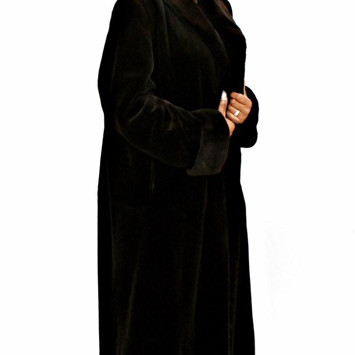 Black Sheared Mink Coat