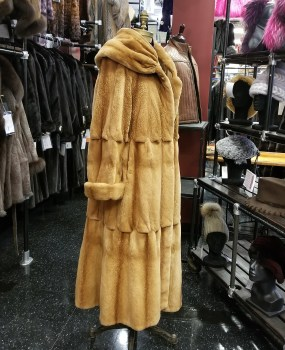 Sheared Mink Swing Coat