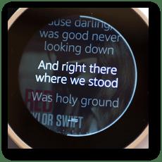 Echo Spot: 歌詞が表示されます