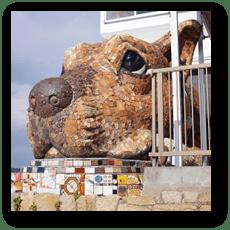 犬島の島犬 (犬島ハウスプロジェクト)
