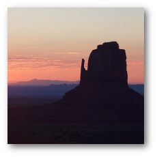 Monyment Valley - Butte in Sunrise