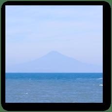 御前崎から望む富士