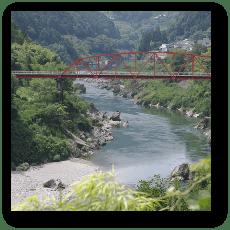 大田口駅付近の橋