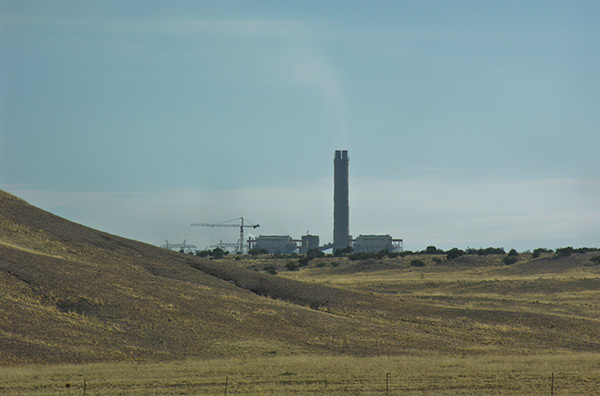 The Coronado coal-fired steam electric plant on the Navajo Reservation. March 2009