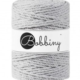 Bobbiny triple twist 5mm Wolzolder Light Grey