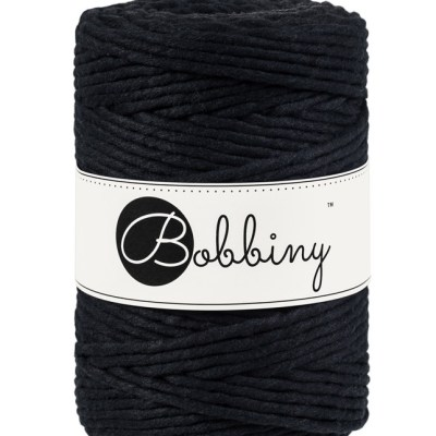 Bobbiny macrame 5mm Wolzolder Black