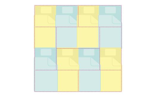 8畳:布団の大きさのイメージ