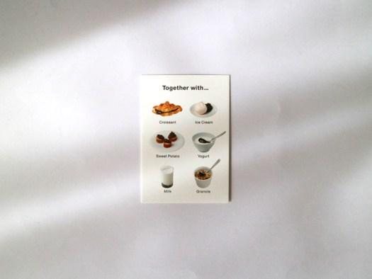 トラヤカフェの「あんペーストのおいしい召し上がり方」というカードの裏面トラヤカフェの「あんペーストのおいしい召し上がり方」というカードの裏面