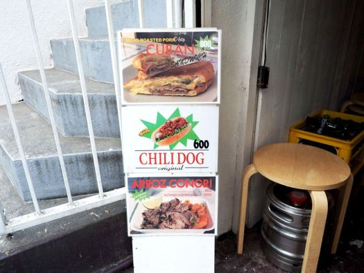 中目黒・代官山「Chilita」のメニュー看板