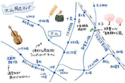 Honda原付女子図鑑:大山駅周辺マップ