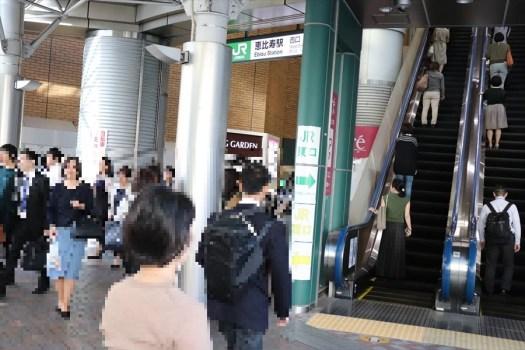 JR恵比寿駅の混雑状況