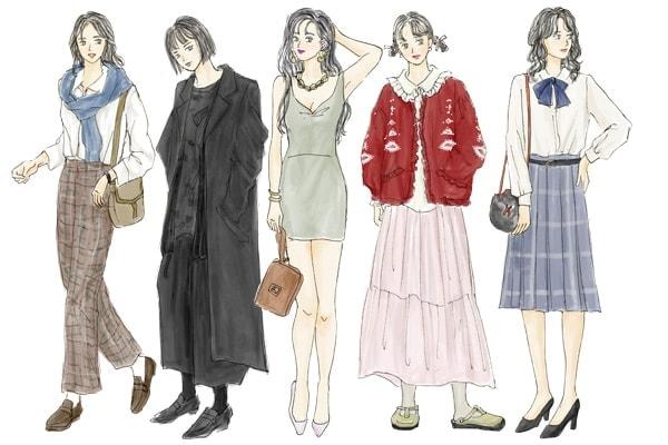 80年代の女性の服装