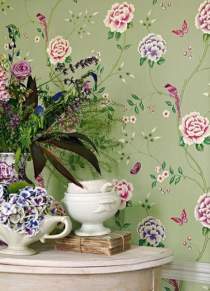 Обои для стен с птицами и цветами