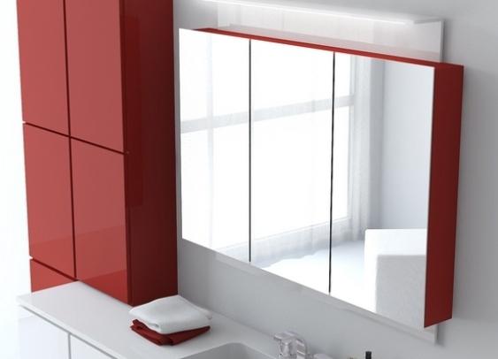 Навесной шкафчик для ванной комнаты с зеркалом
