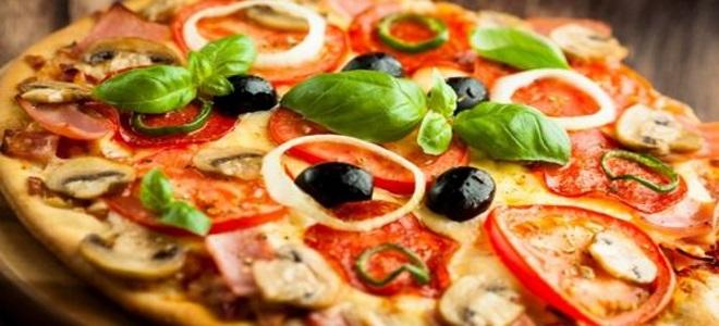 Pizza à micro-ondes