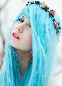 голубые волосы2