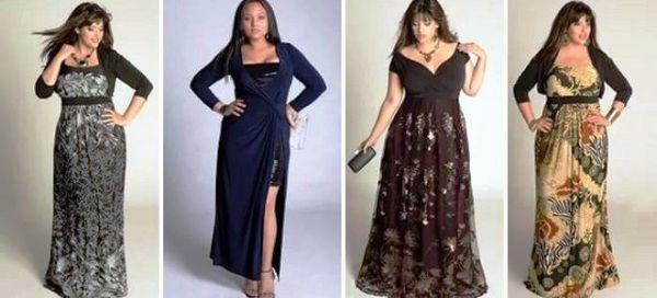 Стильные вечерние платья для полных женщин и девушек ...