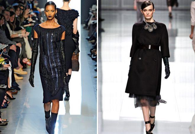 stylish images with black gloves