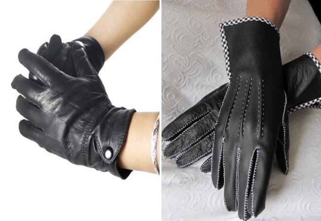 women's black gloves