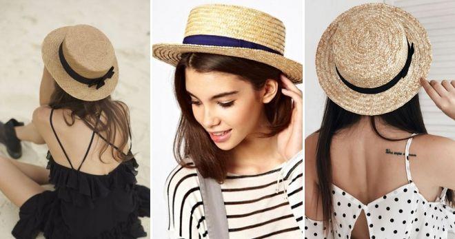 Stile ranotier cappello di paglia