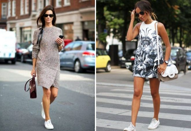 dress with sneakers 2017