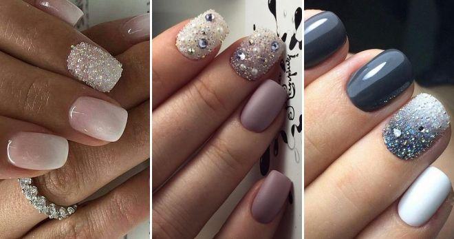 Manicure with transparent bouillon